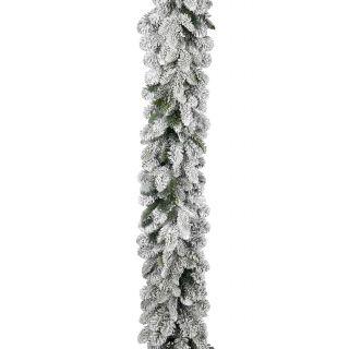 Festone Boa Ø 30 cm 2,70 mt PE+PVC Innevato- Flora
