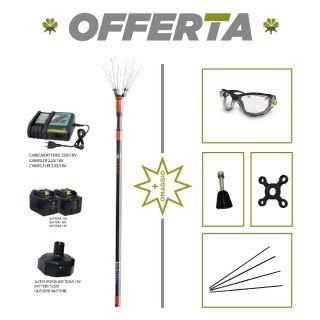 Abbacchiatore Elettrico a Batteria  V34 0111 + KIT 0003 (Adattatore x Batteria + 2 Batterie + CaricaBatteria - JOLLY ITALIA